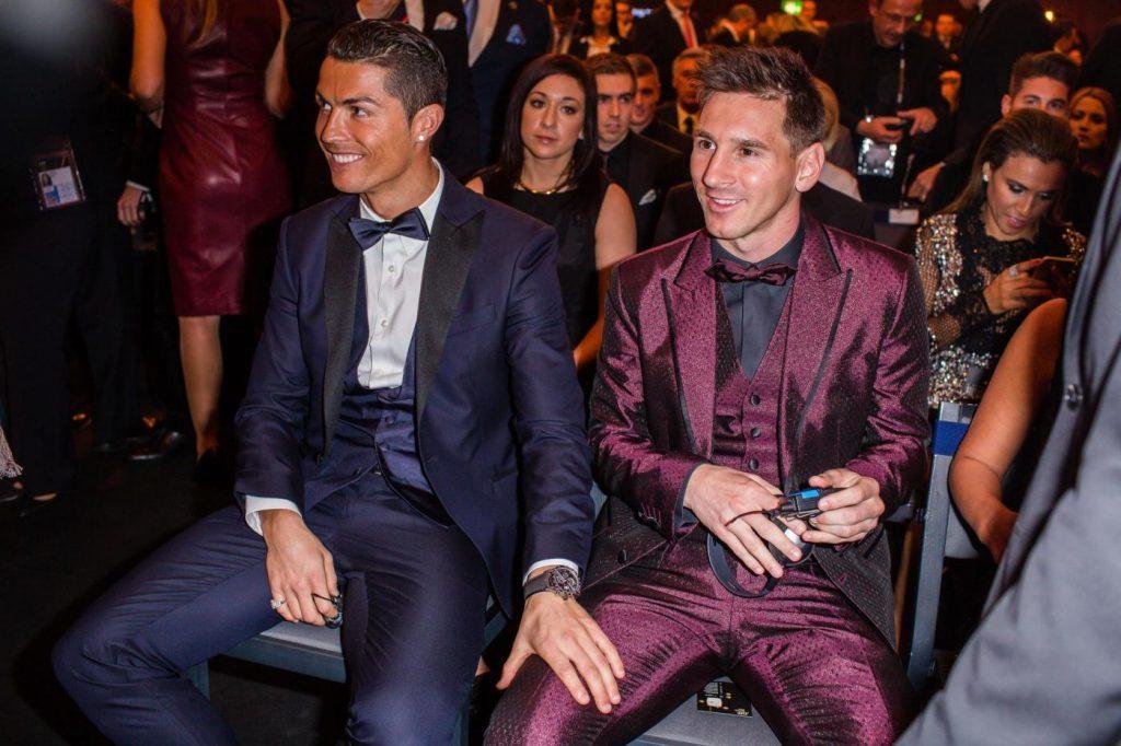 Cristiano Ronaldo e Messi, pallone d'oro