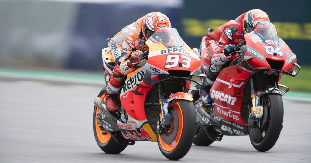 MotoGP Misano: Marquez davanti a tutti. Andrea Dovizioso e Valentino Rossi le possibili insidie per lo spagnolo nel GP di San Marino