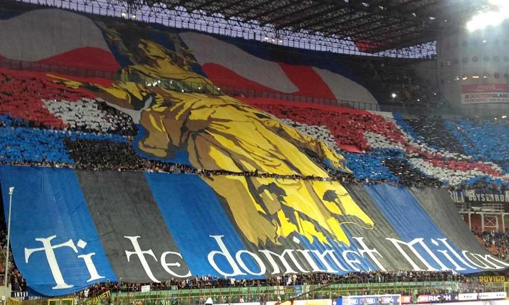 """6 Maggio 2012: """"Ti te dominet Milan"""" Derby di Milano: le più belle coreografie e striscioni nel derby tra inter e milan."""
